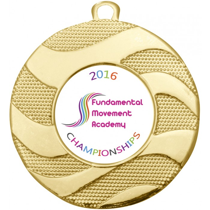 CUSTOM CENTRE BUDGET MEDAL -  50MM - GOLD, SILVER OR BRONZE
